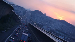 Expressway at dusk Footage