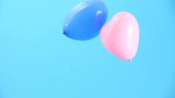 ピンクとブルーの風船 Footage