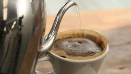 コーヒーを淹れる Footage