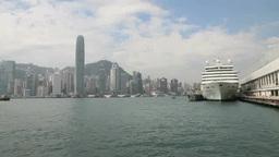 カウルーンから香港島IFCビルを望む Footage