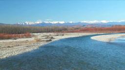 日高山脈と歴舟川の秋 Footage