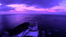 地球岬とチキウ岬灯台の朝 Footage