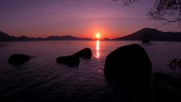 支笏湖の日の出 Footage