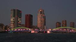 勝鬨橋と隅田川の夕景色 Footage