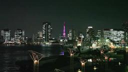 晴海埠頭からの夜景 Footage