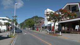 小笠原父島の大村地区のメインストリート町並み Footage