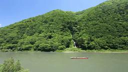 最上川の白糸の滝と川下り Footage