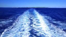 船の航跡と海と空 Footage