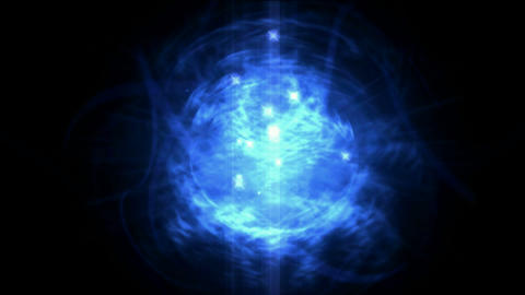 blue nebula and whirl laser,energy tech... Stock Video Footage