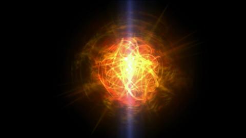 burn sun,golden nebula and whirl laser,energy tech fiber... Stock Video Footage
