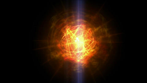 burn sun,golden nebula and whirl laser,energy tech fiber... Stock Video Footage