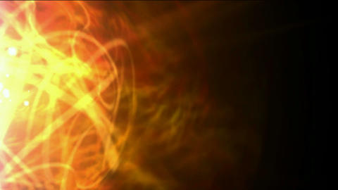 burn sun,golden nebula and whirl laser,energy tech fiber optic cable Animation
