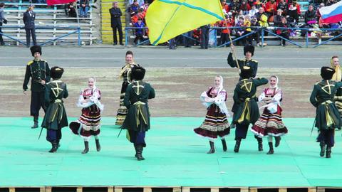 Cossack ensemble dances Stock Video Footage