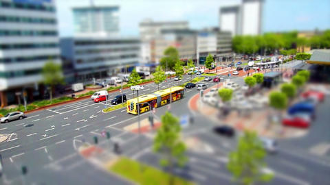 10698 city traffic 001 tilt shift time lapse Stock Video Footage