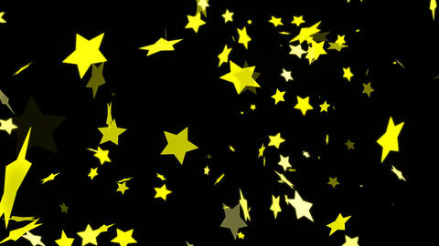 HD Looping Falling Stars Animation Animation