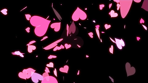 HD Looping Falling Hearts Animation for your Wedding Video CG動画