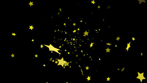 HD Looping Falling Stars Animation Stock Video Footage