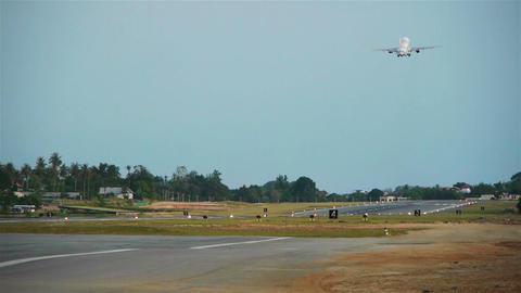 Taking off airplane, Samui island, Thailand Stock Video Footage