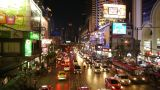 Busy Street Scene In Bangkok, Thailand stock footage
