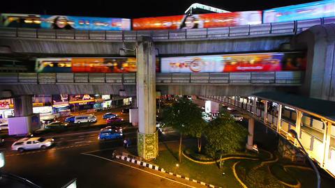 Busy Street Scene In Bangkok, Thailand Stock Video Footage