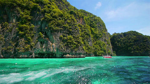 Boat trip to tropical islands, Thailand Stock Video Footage