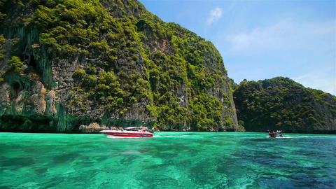 Boat trip to tropical islands, Thailand Footage