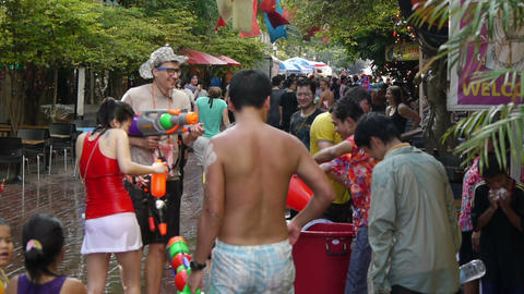 Songkran Thai New Year Stock Video Footage
