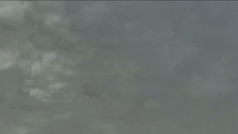 dark clouds cover the sky,flying smoke Stock Video Footage