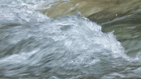 Water movement of the Okutama River,Tokyo,Japan Stock Video Footage