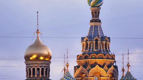 Church of the Savior on Spilled Blood Stock Video Footage