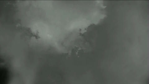 dark clouds & flying smoke Stock Video Footage