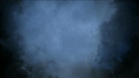 clouds & fog slowly moving in darkness space Stock Video Footage