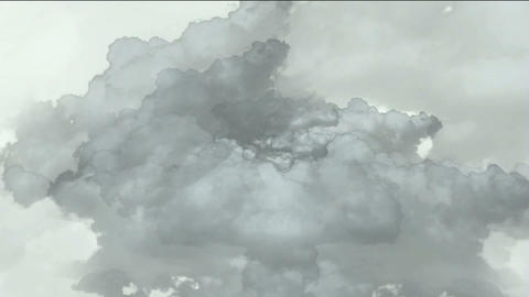 fast flying through storm clouds,like time tunnel in... Stock Video Footage