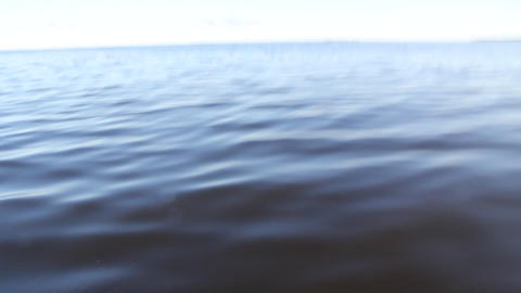 filming the water surface of the fast moving motor boat Stock Video Footage