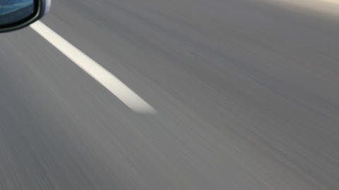 intermittent road markings Stock Video Footage