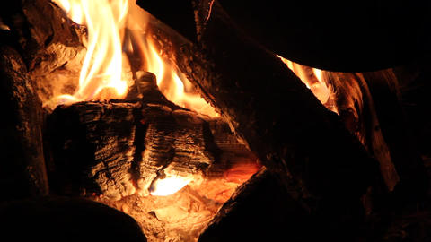 night campfire Stock Video Footage
