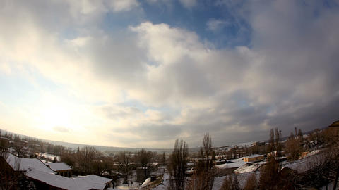 Running Cloudy sky with fisheye view, texture, background... Stock Video Footage