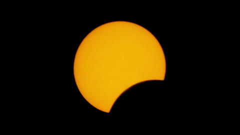 Solar eclipse for a background 29.03.06. TimeLapse Stock Video Footage