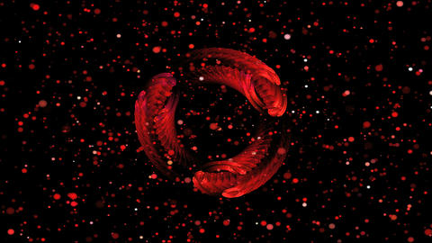 red rotate ring Stock Video Footage