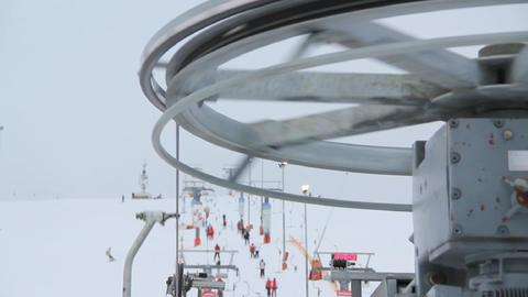 rotating machine ski lift Stock Video Footage