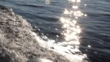 sun of the fast moving motor boat Footage