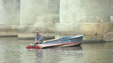 Fisherman 2 Stock Video Footage