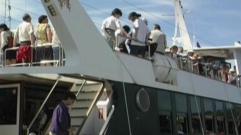 Tourist boat Stock Video Footage