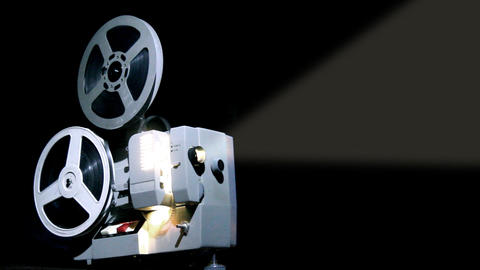 old projector showing film Footage