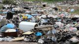 Garbage In Landfill stock footage