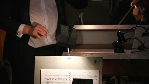 hands of a man who conducts orchestra - timelapse Stock Video Footage