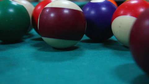 billiard game close-up - timelapse Stock Video Footage