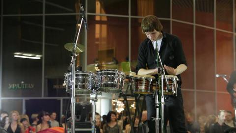 UFA, RUSSIA - DECEMBER 25, 2010: Concert Aleksey C Stock Video Footage