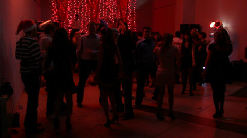 UFA, RUSSIA - DECEMBER 25, 2010: Christmas party i Stock Video Footage