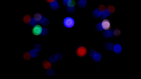 defocused colored circular lights - loopable Stock Video Footage